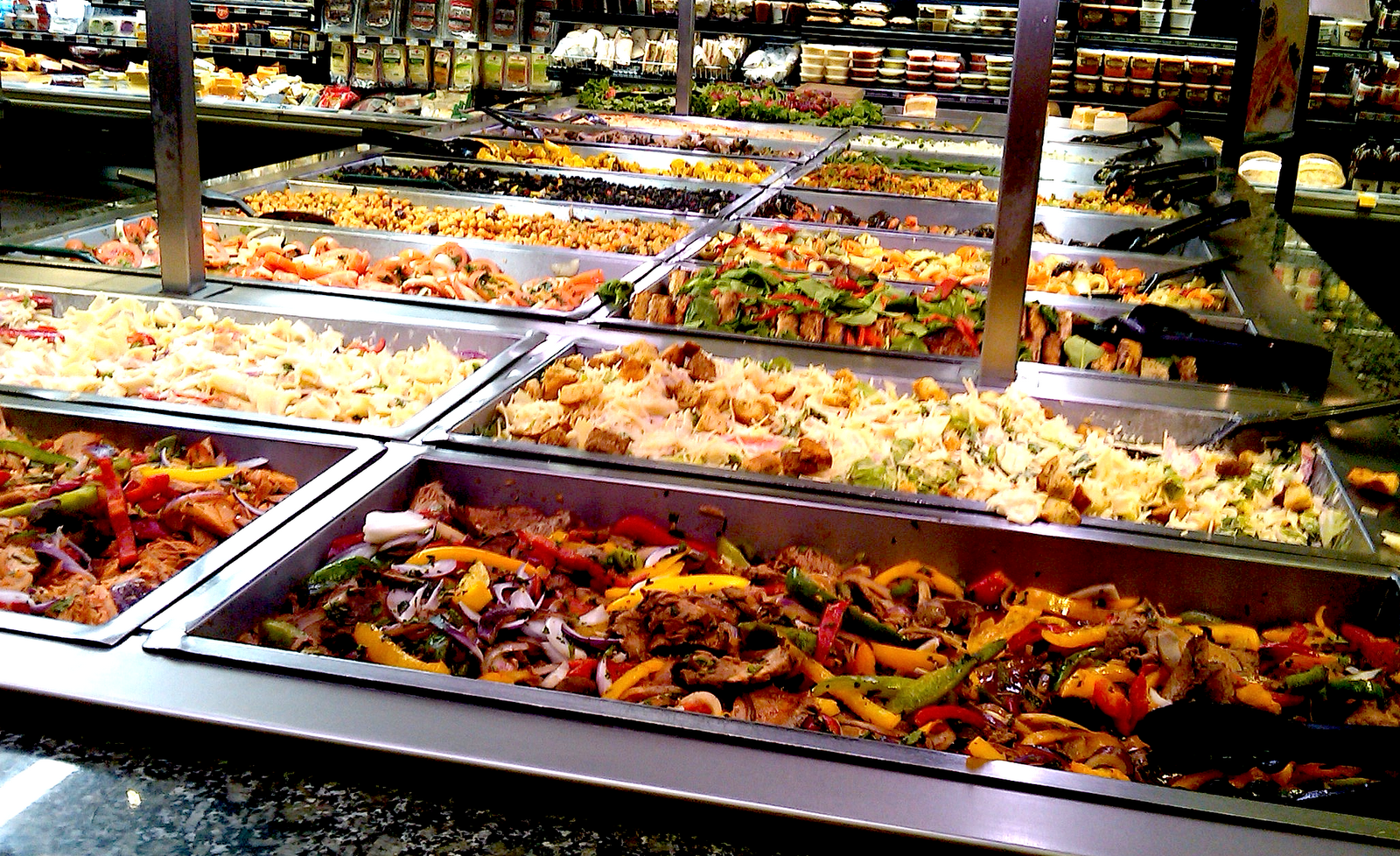 Whole foods salad bar biochemista for Food bar menu
